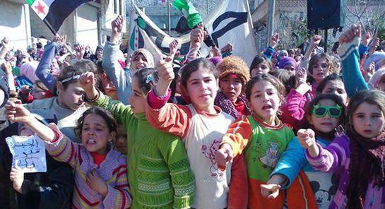 Idib (Siria), i bambini siriani contro le violenze del regime