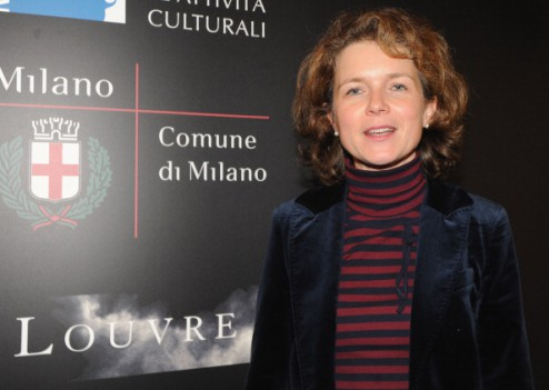 "MILAN, ITALY - NOVEMBER 30: Deputy Managing Director Claudia Ferrazzi of the Louvre museum attends the exhibition opening of Antonio Canova's ""Amore e Psiche"" and Francois Gerard's ""Psyche at l'Amour"" at the Palazzo Marino on November 30, 2012 in Milan, Italy. (Photo by Pier Marco Tacca/Getty Images)"